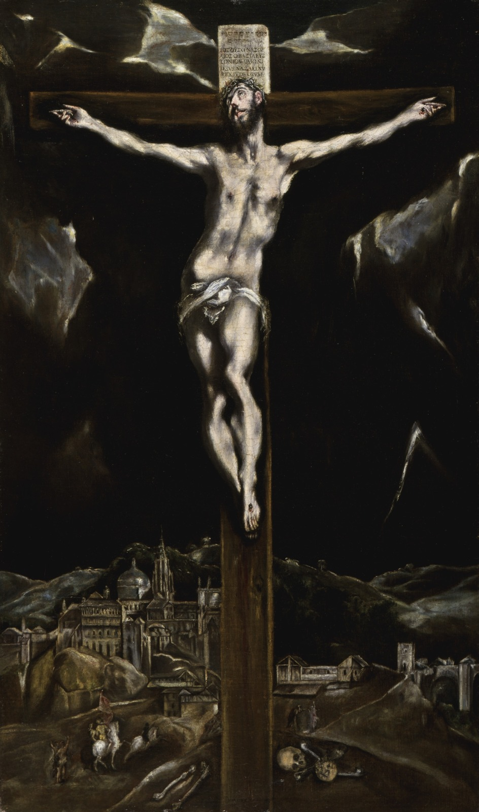Christ on the Cross with a View of Toledo