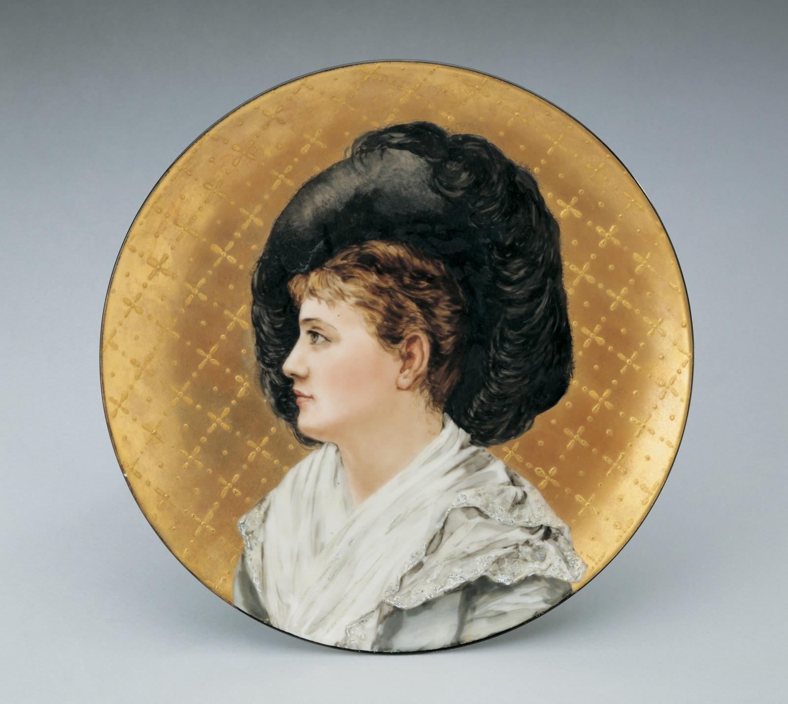 Plaque: Portrait of Esther McLaughlin (the Artist's Niece)