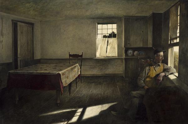 Andrew Wyeth, Henry Teel, 1945, Cincinnati Art Museum, Cincinnati, OH, USA.