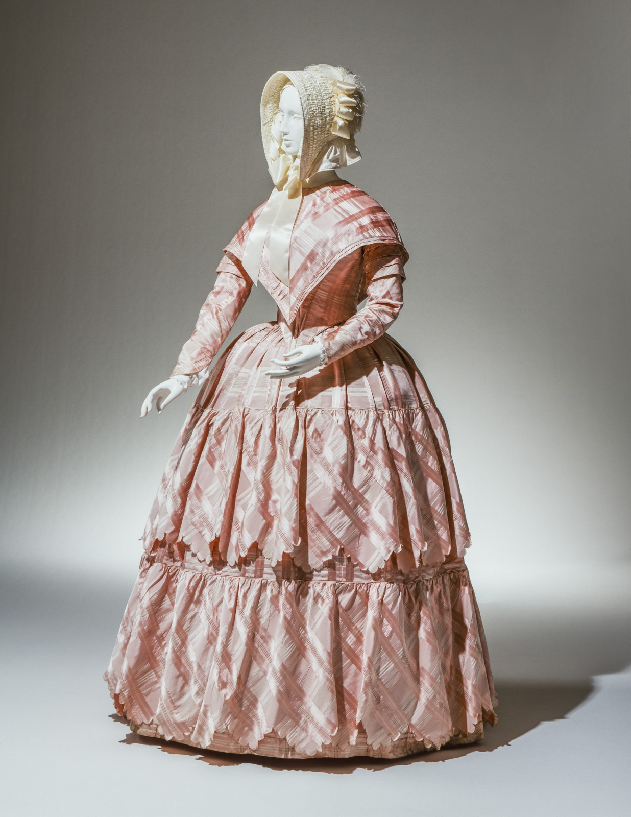 Ensemble: Bodice, Skirt, Cape, Two Sleeves, and Bow with Streamers