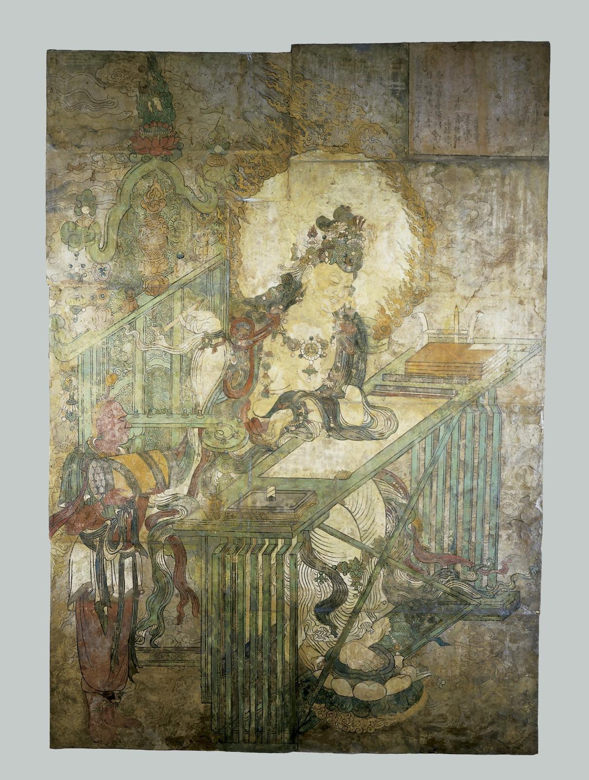 Wenshu, Bodhisattva of Wisdom at a Writing Table