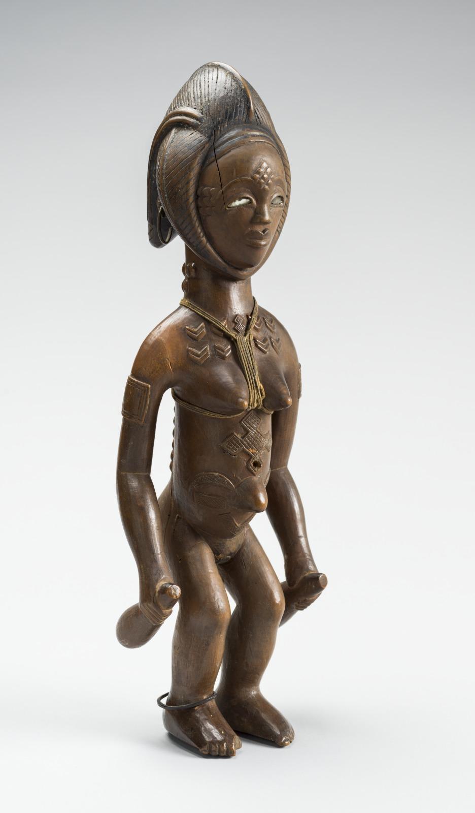 Female Figure Holding Calabashes (kosi)