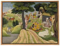 The Meeting at an Ashram