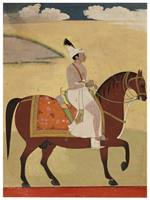 Prince Dalil Singh of Jammu Riding