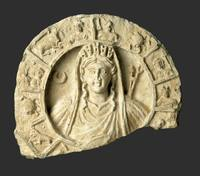 Roundel with Bust of Tyche and Zodiac