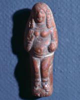 Seated Goddess with Upraised Hand