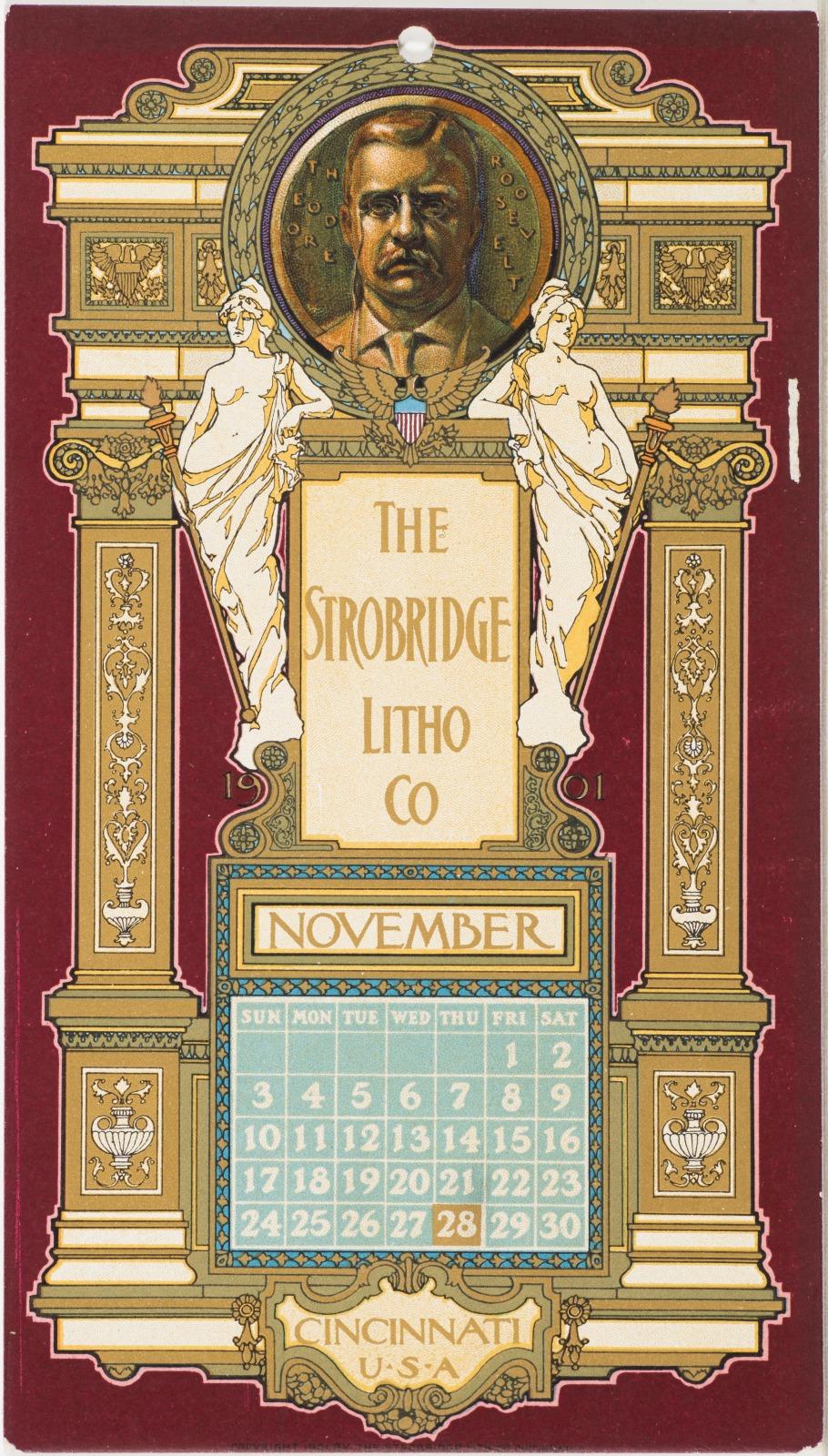 Calendar Card / November 1901