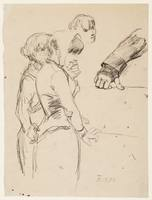 Study of Two Women Standing