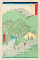 No. 51, Minakuchi, Namatsu Plateau and the Foothills of Mt. Matsu (Namatsudaira Matsuyama no fumoto)