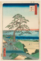 No. 26, the Armour-Hanging Pine and the Eight View Slope (Hakkeizaka Yoroikakenomatsu)
