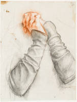 "Study of Clasped Hands for ""Mother of Sorrows"" (Mater Dolorosa)"